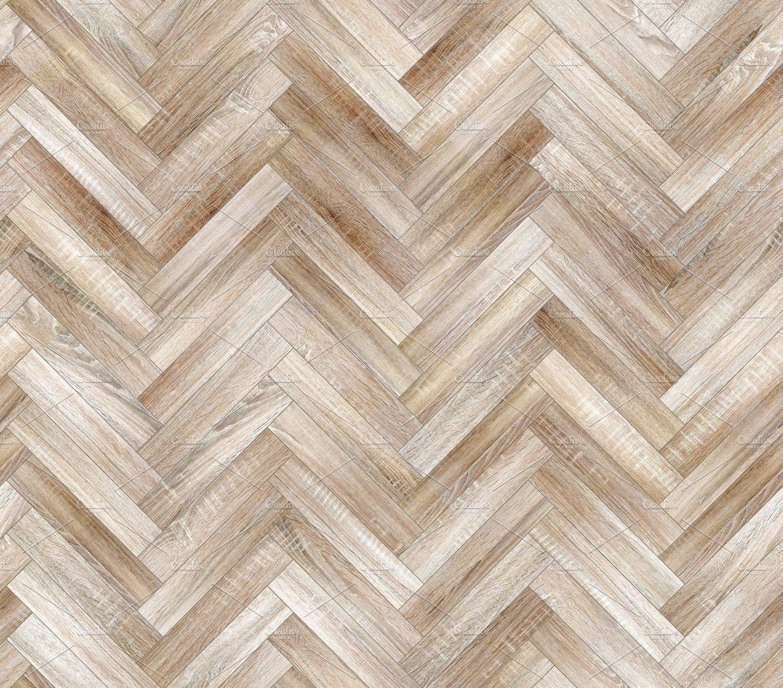 Herringbone Natural Bleached Parquet Seamless Floor