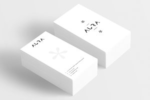 Aura Shop Business Card Template