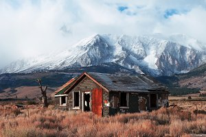 Abandoned House in Highway 395