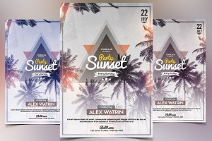 Party Sunset - PSD Flyer Template