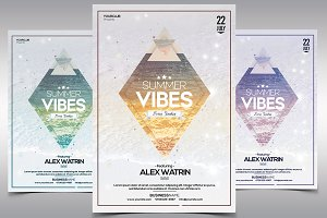 Summer Vibes - PSD Flyer Template