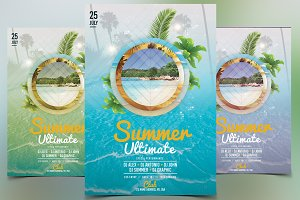 Summer Ultimate - PSD Flyer Template