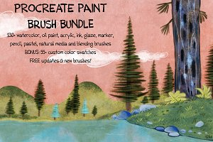 PAINT Bundle: 150+ Procreate Brushes