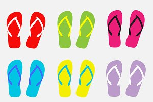 Flip flops set background vector
