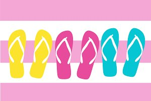 Flip flops summer background