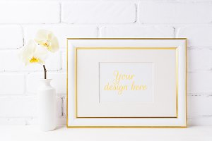 Gold decorated landscape frame