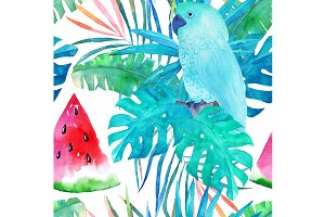 Summer Watercolor Pattern