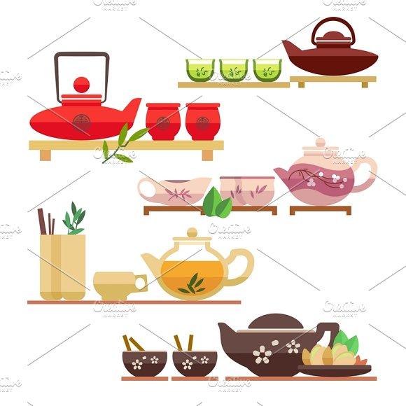 Chinese Tea Ceremony Icons