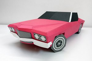 DIY Classic Car - 3d papercrafts