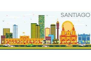 Santiago Chile Skyline