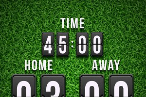 Football soccer scoreboard