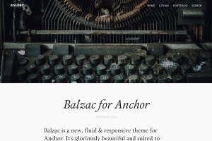 Balzac for AnchorCMS