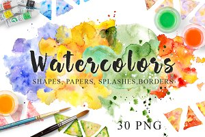 Watercolor Texture Clipart