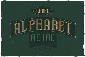 Retro Alphabet Label Typeface