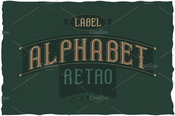 Retro Alphabet Label Typeface