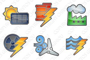 Power and Energy Icon Set