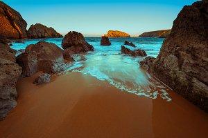 Arnia beach.Santander.Cantabria.