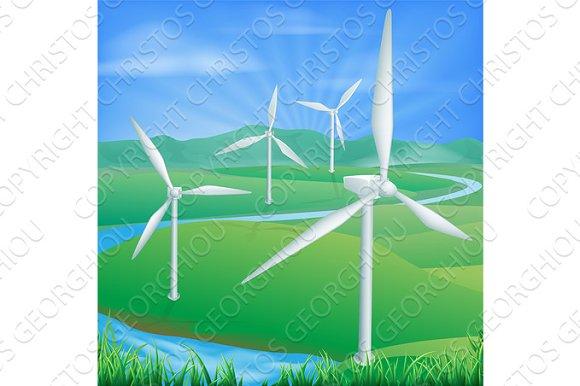 Wind Power Energy Illustration