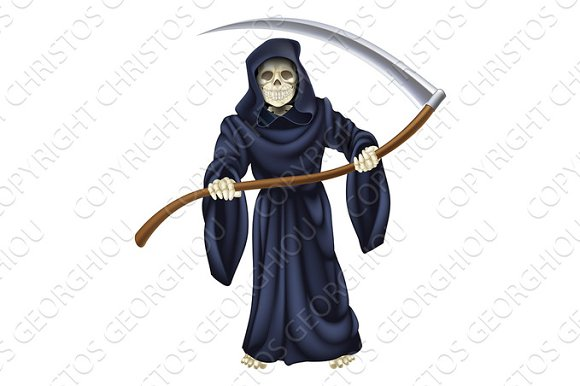 Grim Reaper Death Skeleton
