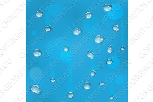 Seamless tiling water drops on glass background