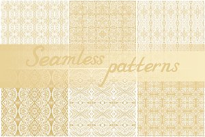 Set of 13 seamless laced patterns