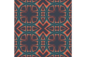 Dark seamlessGeometry pattern vector tileable background design in medieval european culture style