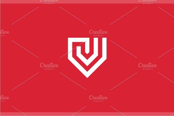 V-shield Letter V Logo