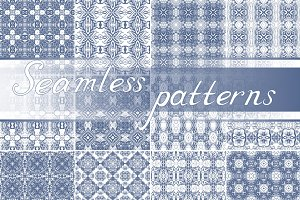 Set of 24 seamless patterns