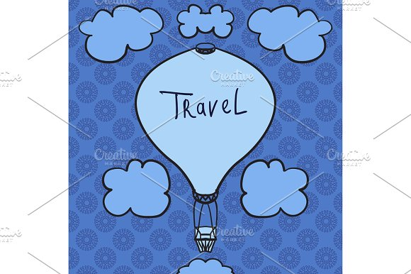 Hot Air Balloon Design Icon In The Sky Flat Design Style Hot Air Balloon Silhouette Modern Flat Icon Web Site Page And Mobile App Design Element