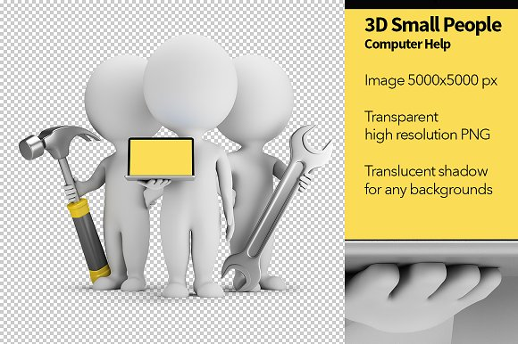 3D Small People Computer Help