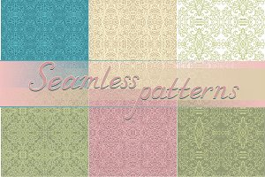 Set of 10 seamless laced backgrounds