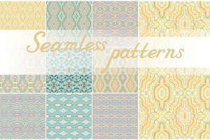 10 Seamless geometric backgrounds