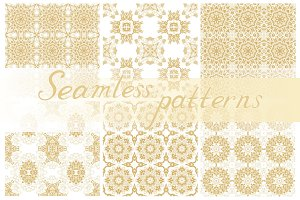 6 Seamless golden patterns
