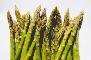 Green Asparagus vegetables, faded vintage look