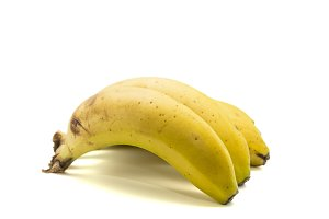 bananas on a white