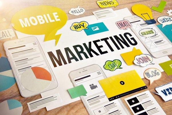 Mobile marketing concept design