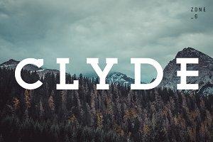 Clyde | A Vintage Slab Serif Family