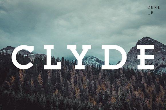 Clyde A Vintage Slab Serif Family