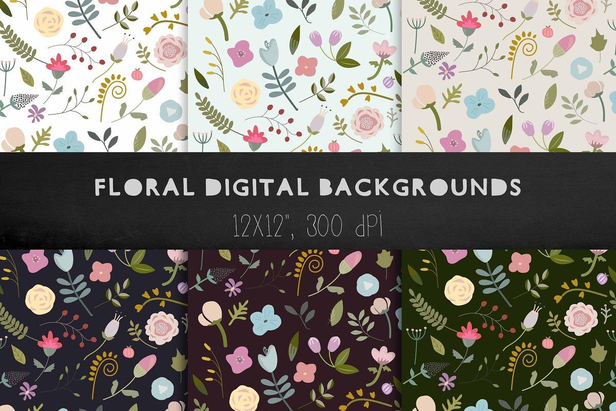 Floral Backgrounds Floral Patterns Custom Designed Graphic