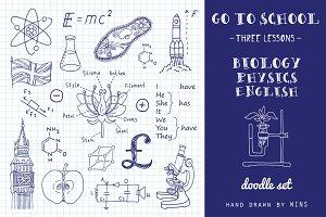 Go to school. Doodle set