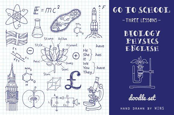 Go To School Doodle Set