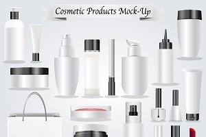 Cosmetic products Vector Mock-up