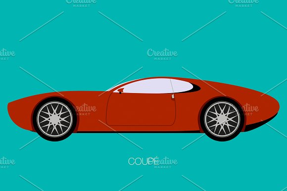 Coupe Classic Car Vector