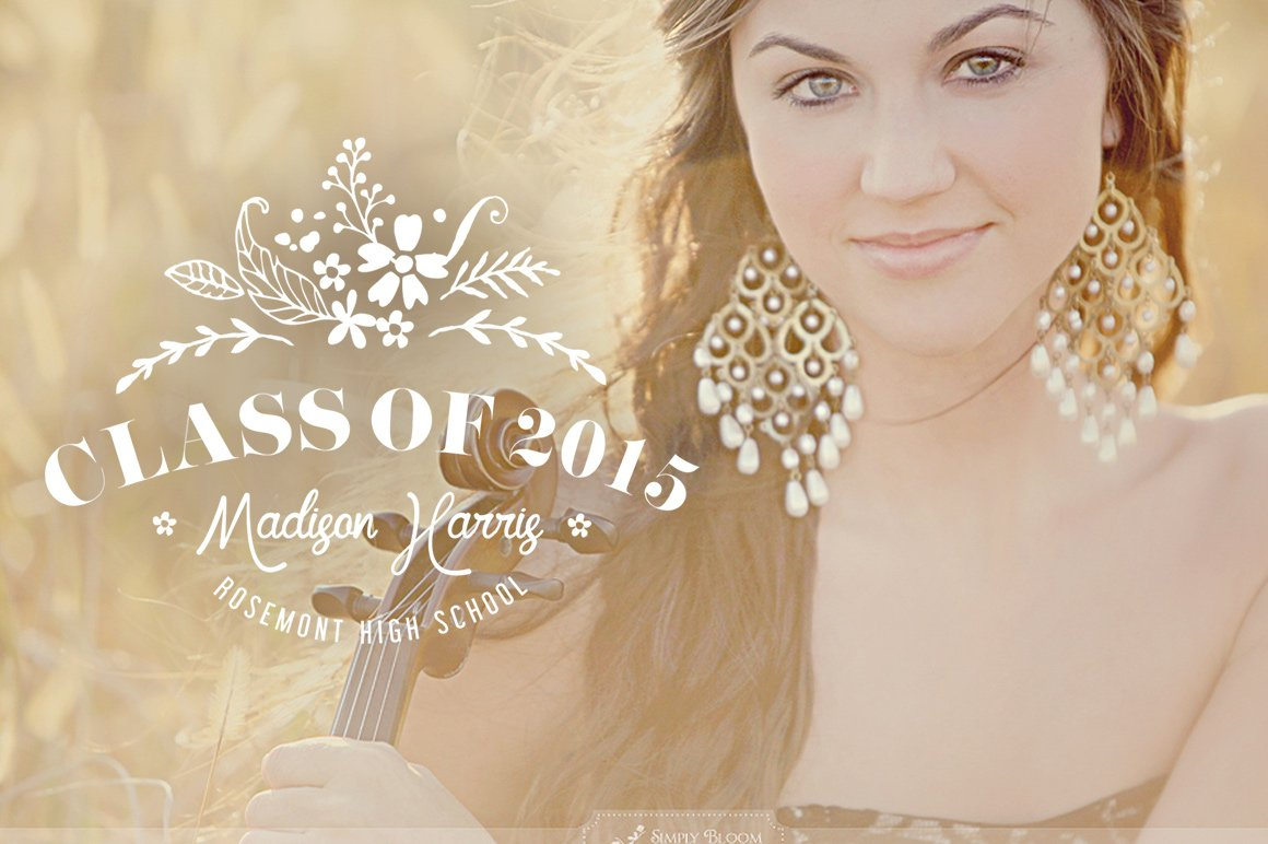 Senior Graduate Photo Overlay PSD ~ Invitation Templates ~ Creative ...