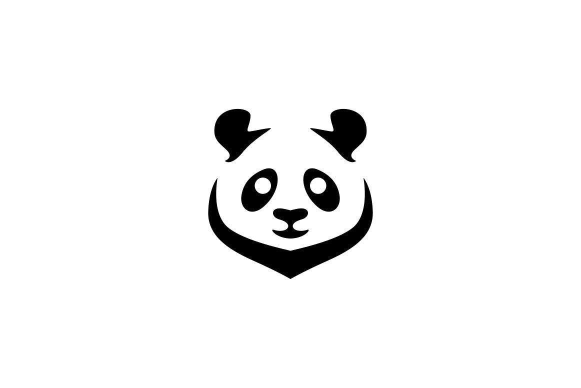 panda logo template logo templates creative market. Black Bedroom Furniture Sets. Home Design Ideas