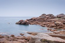 Rocky beach in Brittany, France