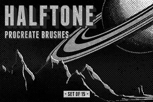 Halftone Procreate Brushes