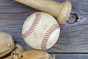 Old Baseball stuff on Wood