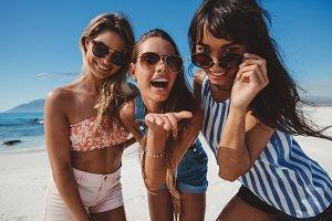 Women enjoying summer holidays