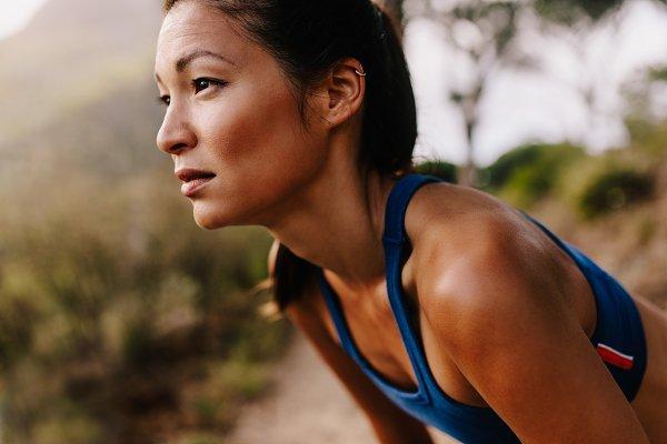 Female runner in sportswear